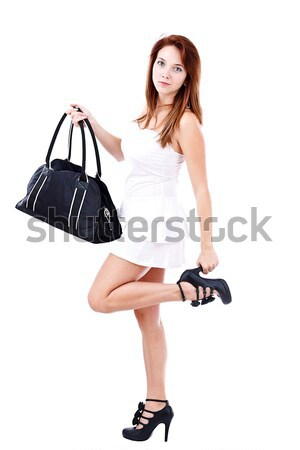 Woman with bag Stock photo © grafvision