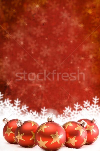 Natal neve inverno bola vermelho belo Foto stock © grafvision
