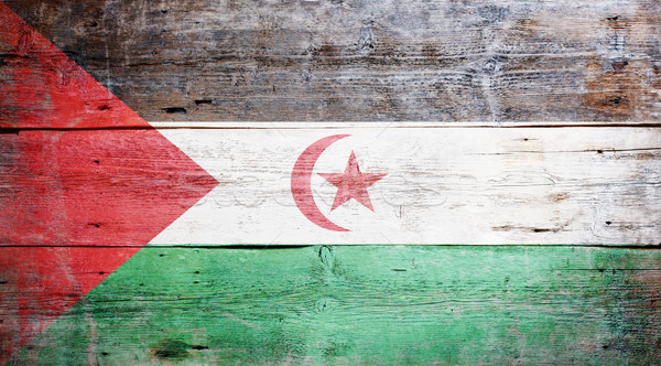 Flag of the Sahrawi Arab Democratic Republic Stock photo © grafvision