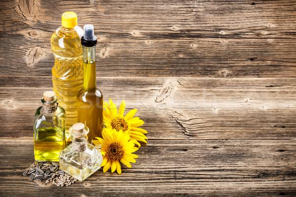 Napraforgóolaj üveg virág üveg napraforgó szín Stock fotó © grafvision