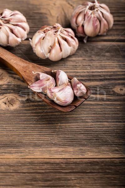 ニンニク クローブ 木材 キッチン 料理 ストックフォト © grafvision