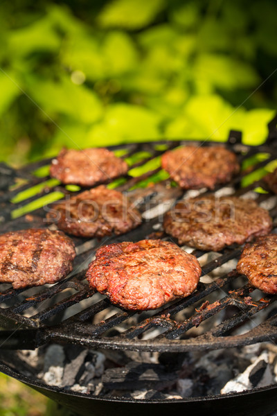 Grilled burgers Stock photo © grafvision