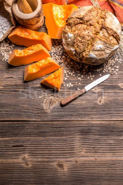 ローフ カボチャ パン スペース 新鮮な 穀物 ストックフォト © grafvision
