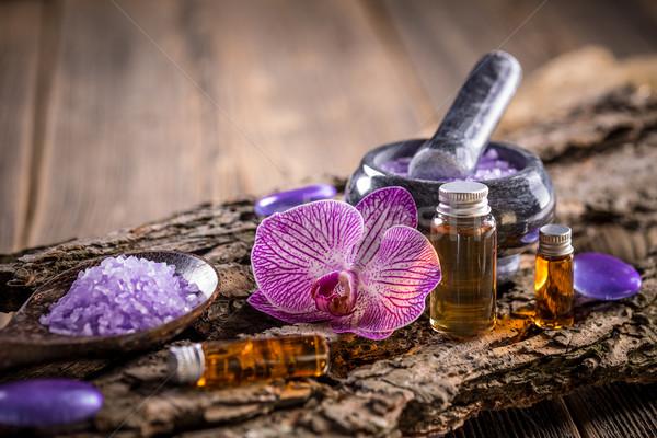 лечение расслабиться орхидеи соль Сток-фото © grafvision