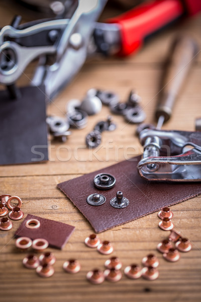Leather hole punch  Stock photo © grafvision