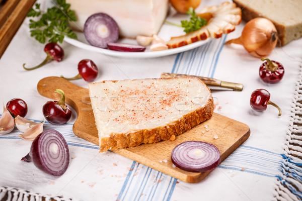 Lard bread Stock photo © grafvision
