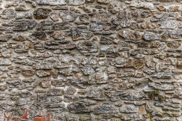 Taş duvar model dengesiz doku Bina soyut Stok fotoğraf © grafvision
