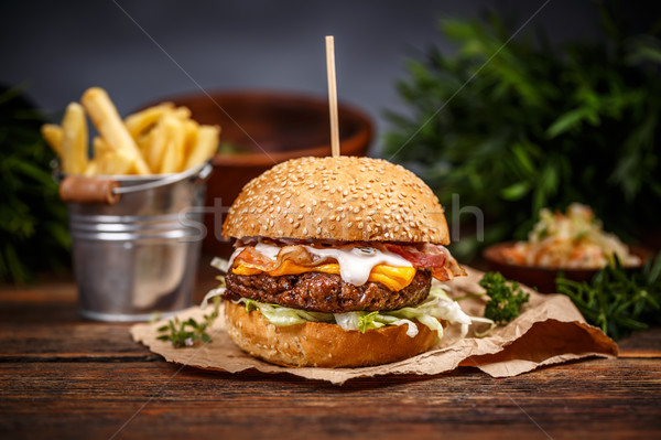 Burger with cheese Stock photo © grafvision