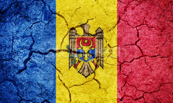 Köztársaság Moldova zászló száraz Föld föld Stock fotó © grafvision