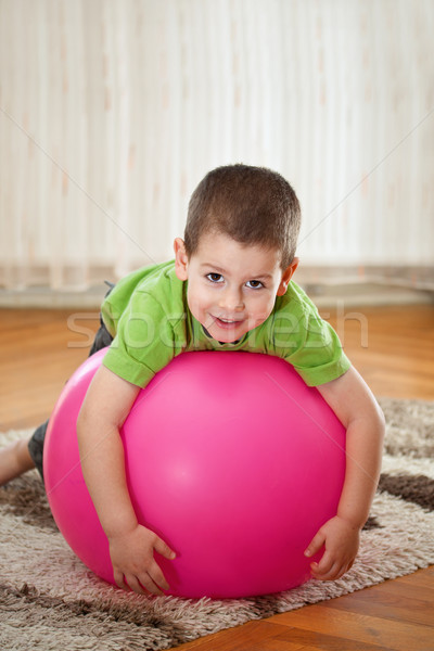 Boy with large ball Stock photo © grafvision