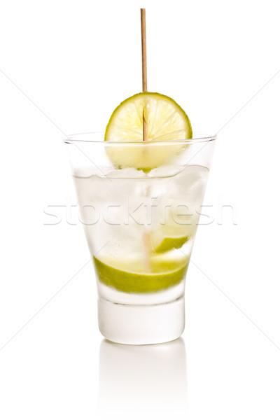 Wodka kalk ijs witte partij glas Stockfoto © grafvision