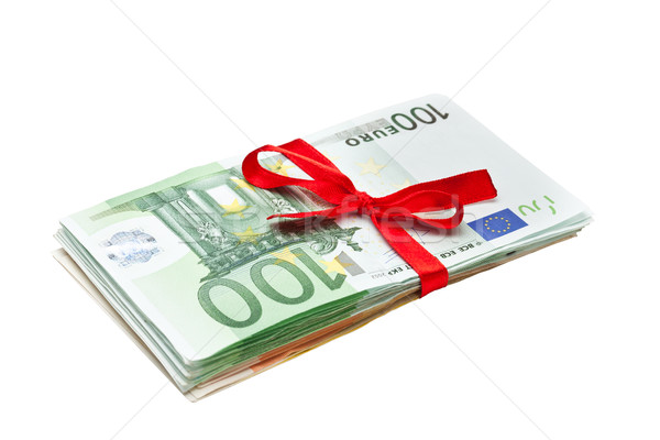 Euro Banknotes gift Stock photo © grafvision