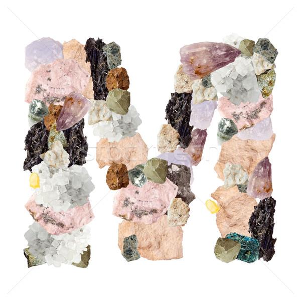 Minerali alfabeto isolato bianco lettera m metal Foto d'archivio © grafvision