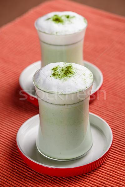 зеленый чай горячей стекла фон молоко расслабиться Сток-фото © grafvision
