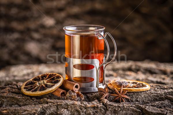 Csésze teáscsésze tea ünnepi hangulat könyv Stock fotó © grafvision