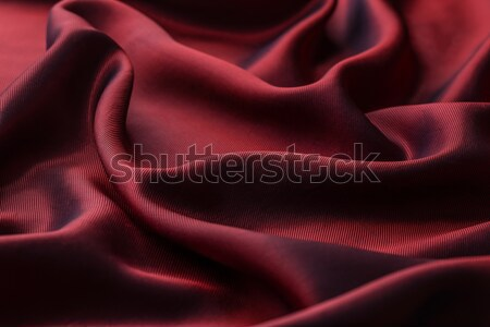 Elegant red silk or satin Stock photo © grafvision