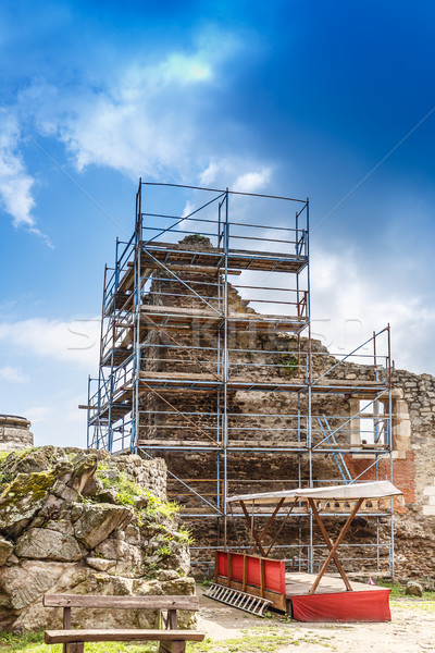 Ruined medieval castle Stock photo © grafvision