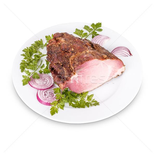 Air dried pork meat Stock photo © grafvision