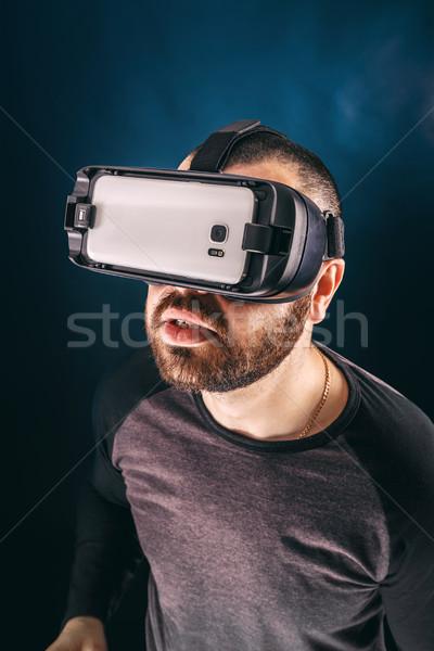 Man in VR headset  Stock photo © grafvision