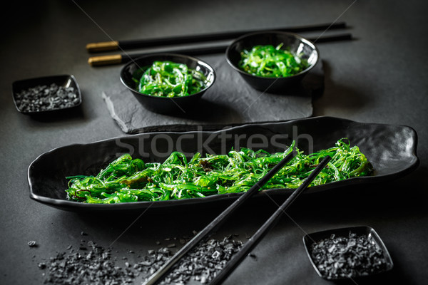 Stock photo: Pickled spicy seaweed