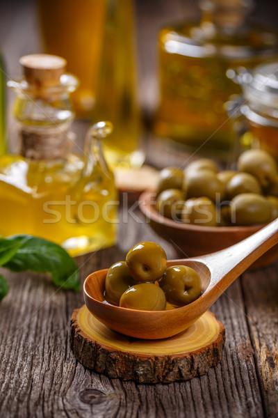 Средиземное море закуска зеленый оливками служивший Сток-фото © grafvision