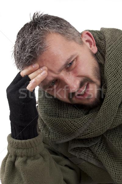 A portrait of a sad terrorist Stock photo © grafvision