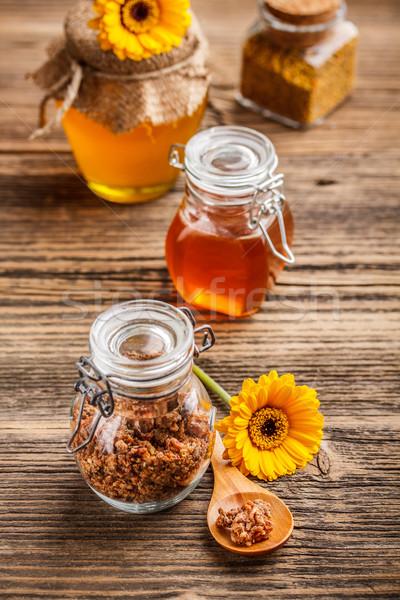 Propolis product bijen glas jar bloem Stockfoto © grafvision