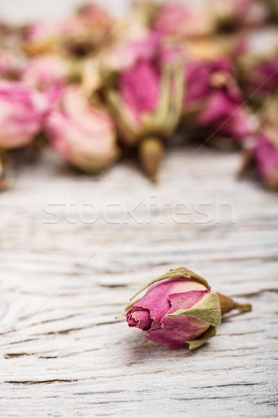 Stock fotó: Aszalt · rózsa · fa · asztal · levél · fürdő · növény
