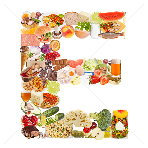 Letter E made of food Stock photo © grafvision