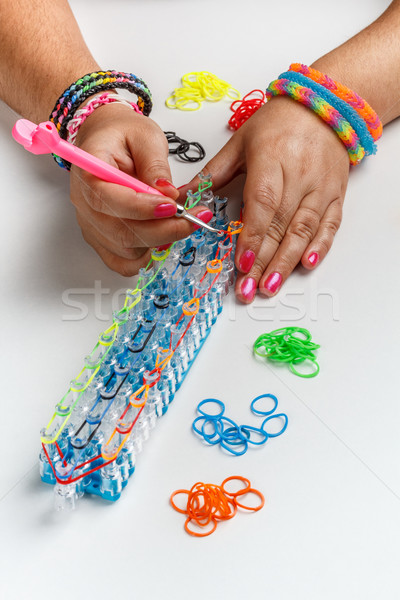 Loom band bracelet Stock photo © grafvision