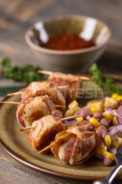 ミートボール ベーコン 食品 鶏 ストックフォト © grafvision