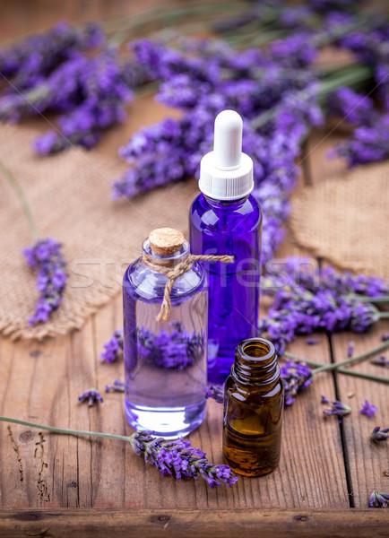 Lavanda fiori oli essenziali benessere sfondo medicina Foto d'archivio © grafvision