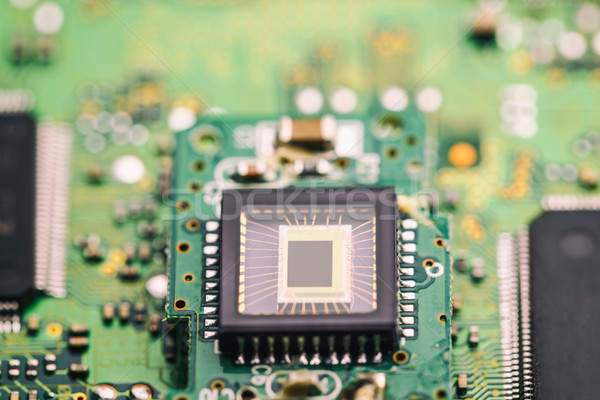 Microchip on green board Stock photo © grafvision