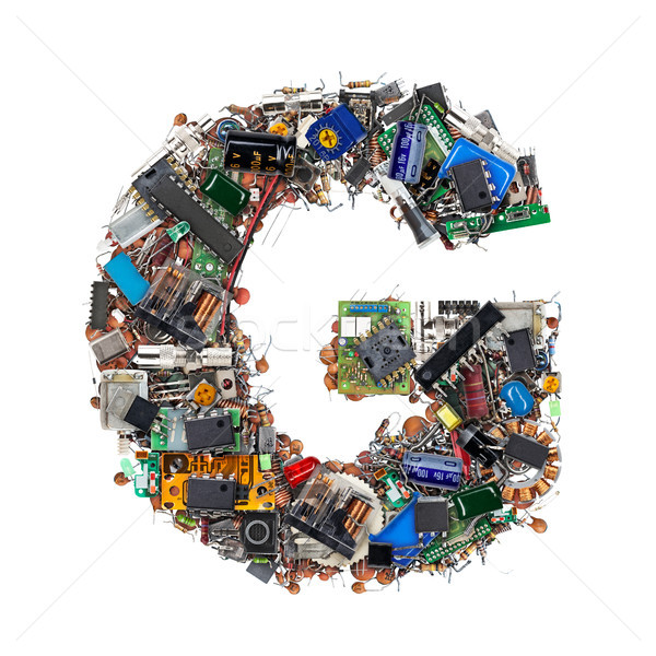 Letter G made of electronic components Stock photo © grafvision