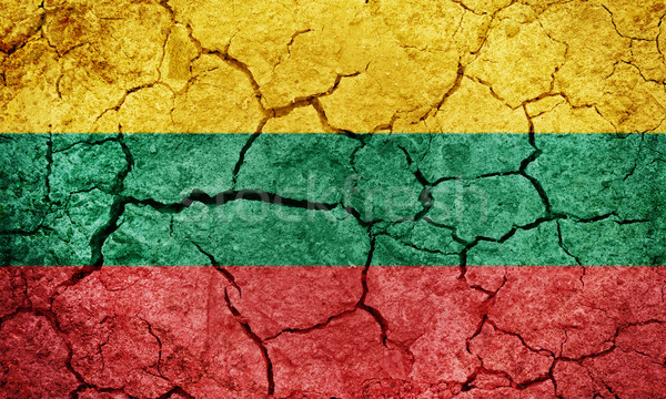 República Lituânia bandeira secar terra terreno Foto stock © grafvision