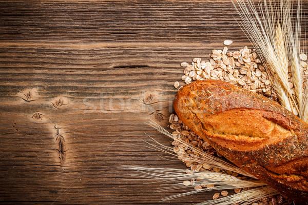 буханка хлеб Top мнение высушите уха Сток-фото © grafvision