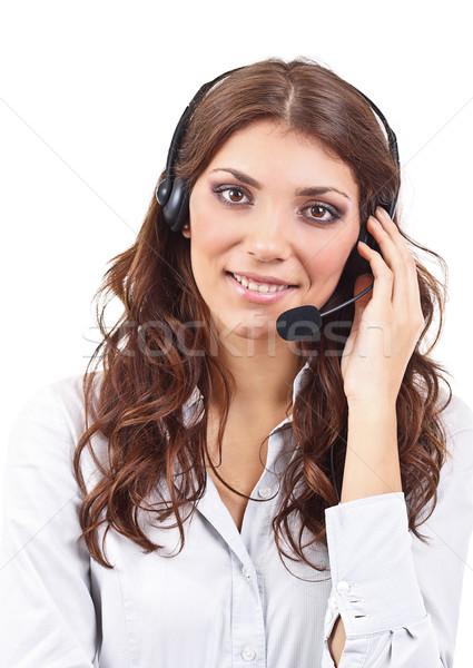 Сток-фото: оператор · деловой · женщины · Call · Center · изолированный · белый · женщину
