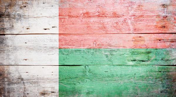 флаг Мадагаскар окрашенный древесины доска Сток-фото © grafvision