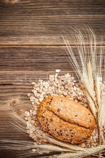 Bread roll and weath Stock photo © grafvision