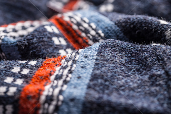 Wol trui patroon winter Rood zwarte Stockfoto © grafvision