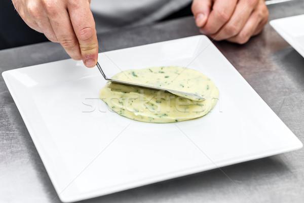 Chef arranged mashed potatoes Stock photo © grafvision