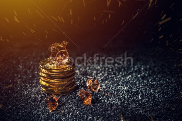 Bitcoin investimento dinheiro escuro Foto stock © grafvision