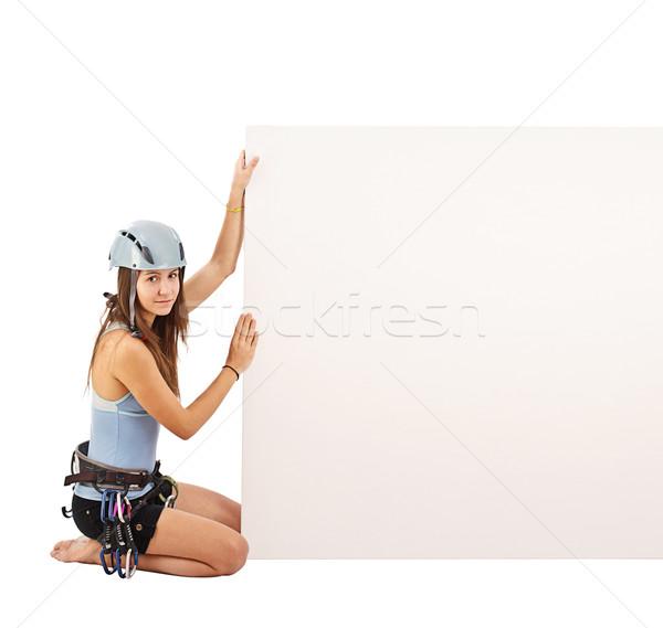 Woman in climbing equipment Stock photo © grafvision
