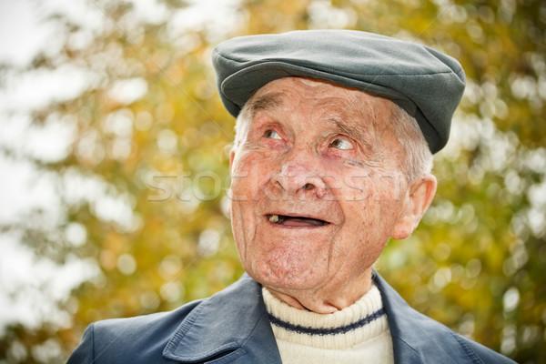 Elderly man in hat  Stock photo © grafvision