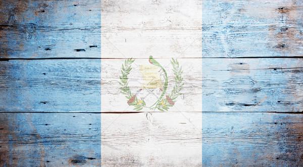 флаг Гватемала окрашенный древесины доска Сток-фото © grafvision