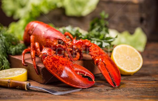 Langosta cocido alimentos mar salud Foto stock © grafvision