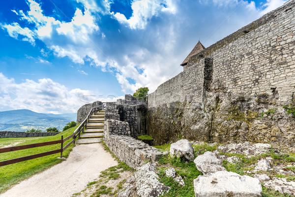 Citadel wall in Visegrad Stock photo © grafvision
