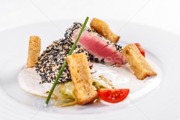 マグロ 静物 魚 黒 ストックフォト © grafvision