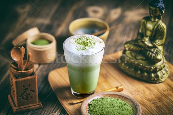 Matcha tea latte Stock photo © grafvision