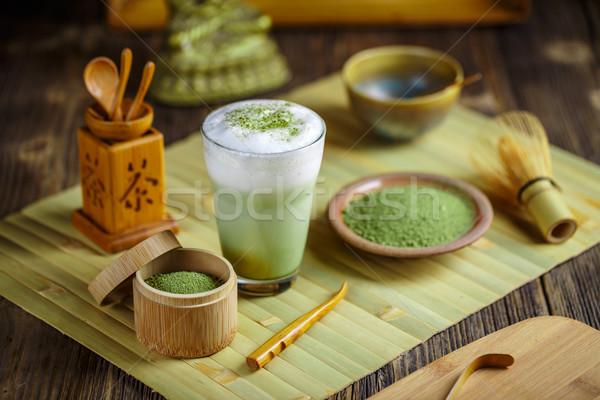 зеленый чай Японский чай церемония зеленый бамбук Сток-фото © grafvision